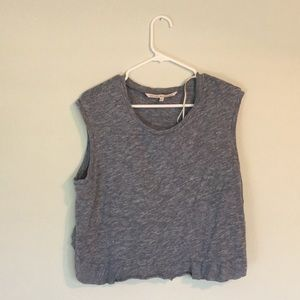 Cute blue/gray crop top